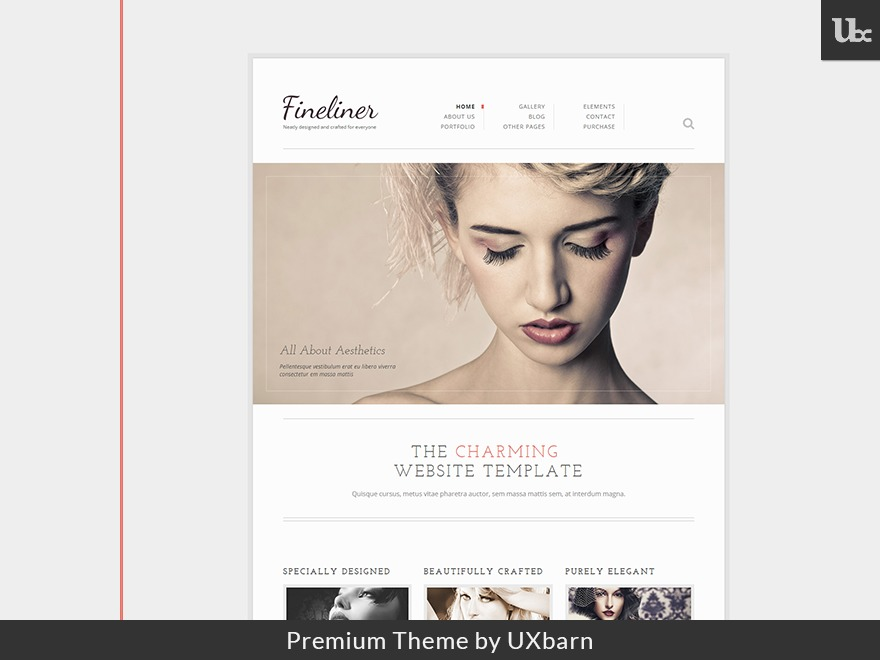 Fineliner company WordPress theme