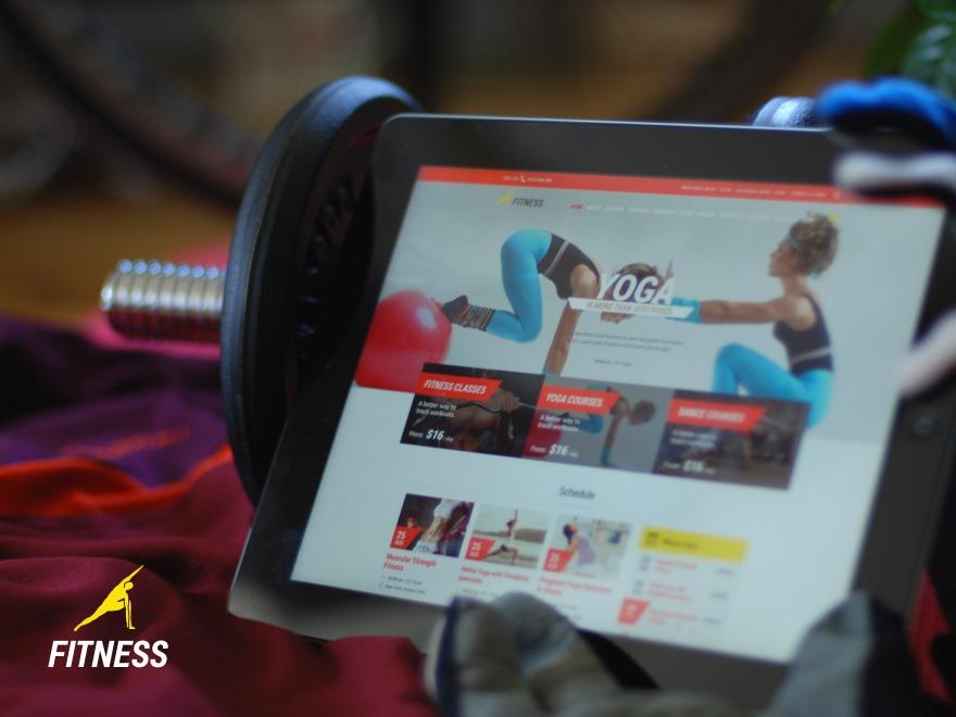 Fitnes, Sport, Gym fitness WordPress theme