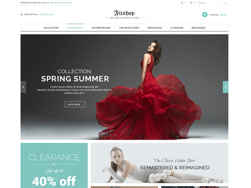 Fitshop WordPress ecommerce theme