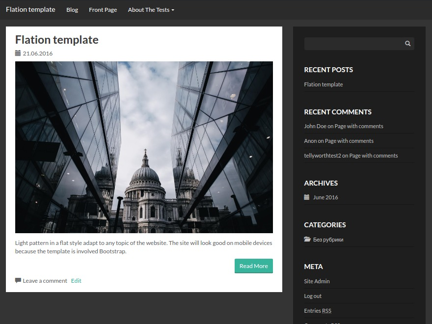 Flation WordPress template free download