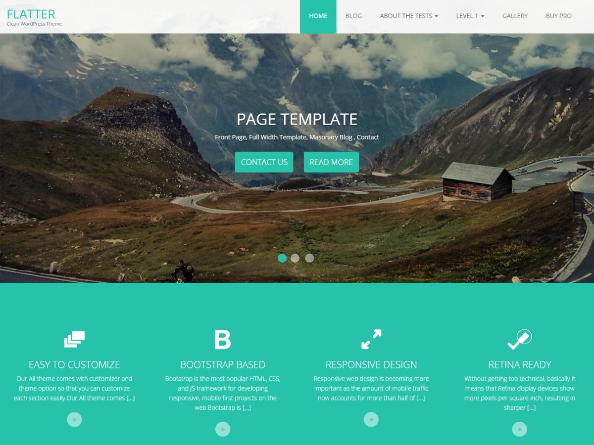 Flatter template WordPress free