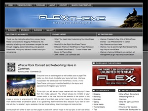 Flexx Theme - Bold WordPress blog template