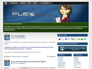 Flexx Theme - Professional WordPress blog theme