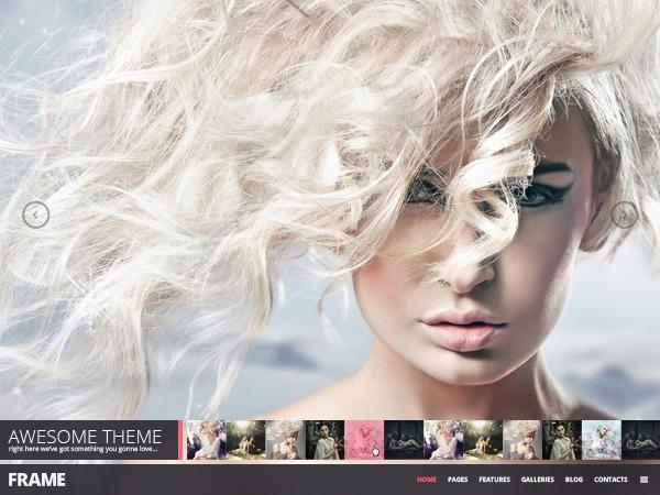 Frame Photography Minimalistic WP Theme WordPress gallery theme