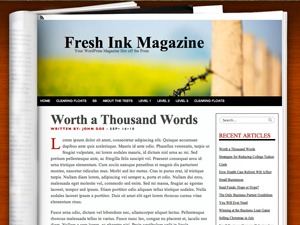 Fresh Ink Magazine WordPress magazine theme