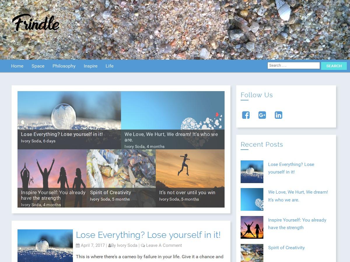Frindle newspaper WordPress theme