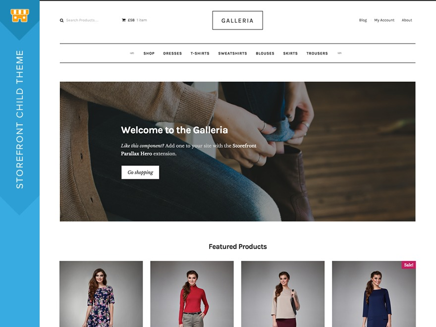 Galleria WordPress shop theme