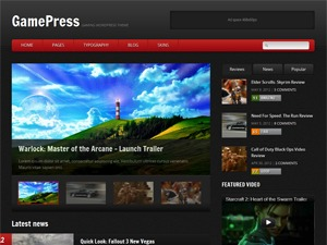 GamePress WordPress news theme