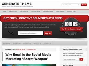 Generate Child Theme WordPress theme