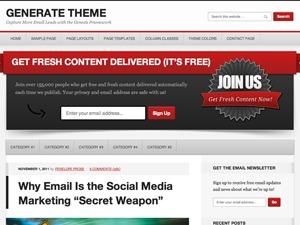 Generate Child Theme WordPress theme