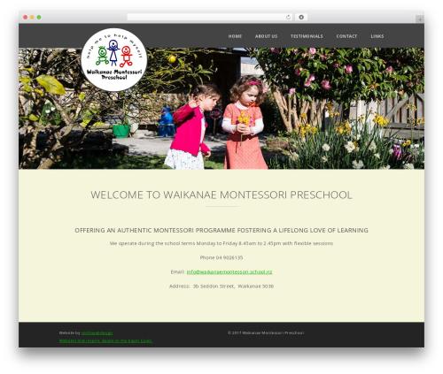 Glisseo - Responsive Multipurpose WordPress Theme WordPress theme - waikanaemontessori.school.nz