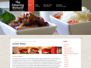 Go Daddy Mark I WordPress page template