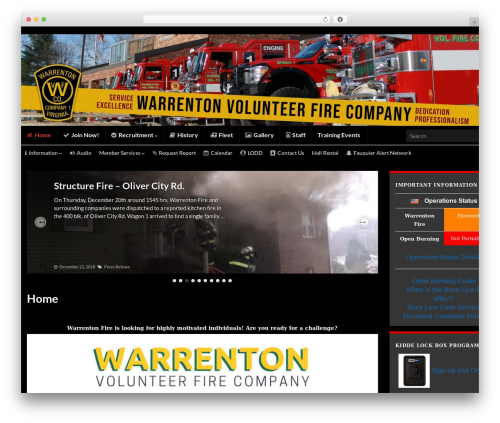 Free WordPress Connections Business Directory plugin - warrentonfire.org
