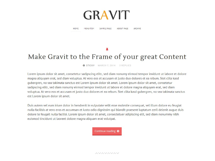 Gravit WordPress template for photographers