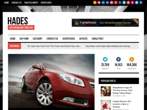 Hades best WordPress magazine theme