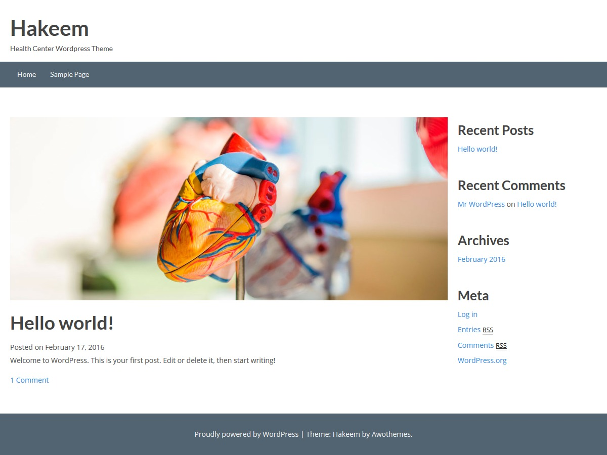 Hakeem WordPress theme free download