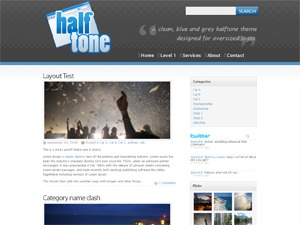 Halftone template WordPress