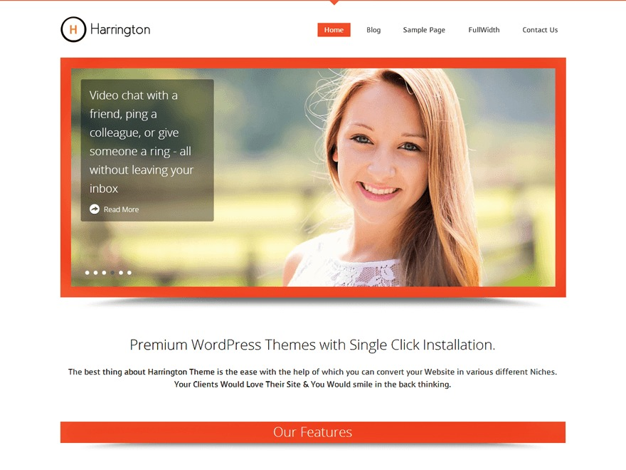 Harrington Pro Responsive Theme WordPress theme image