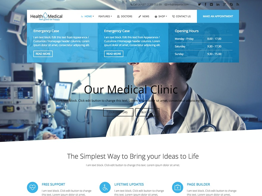 Health&Medical medical WordPress theme