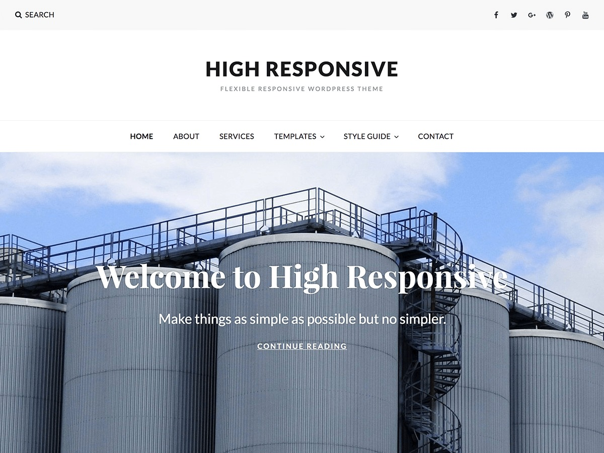 High Responsive theme free download