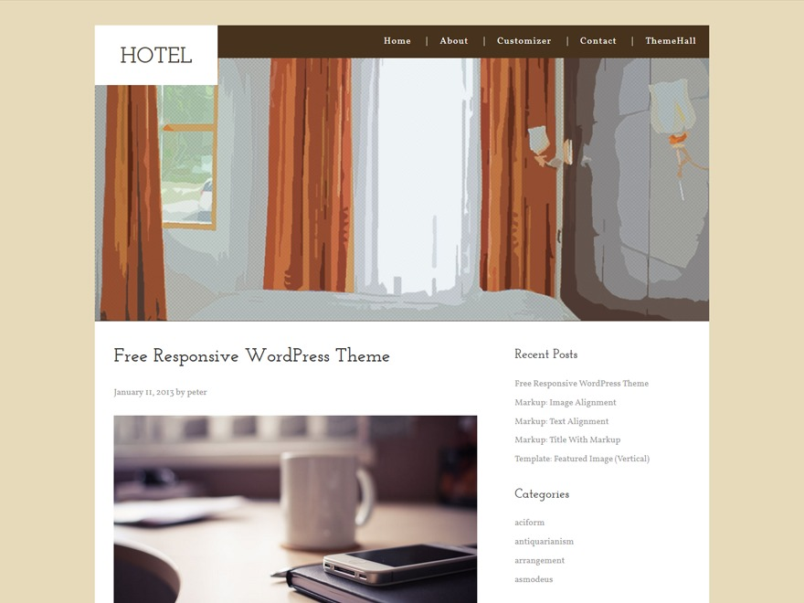 Hotel best hotel WordPress theme