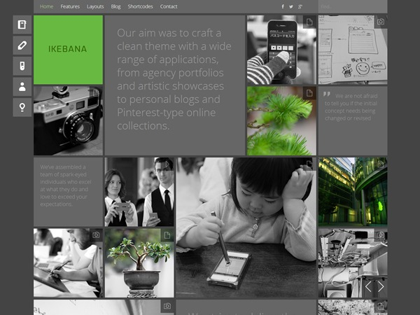 Ikebana theme WordPress portfolio