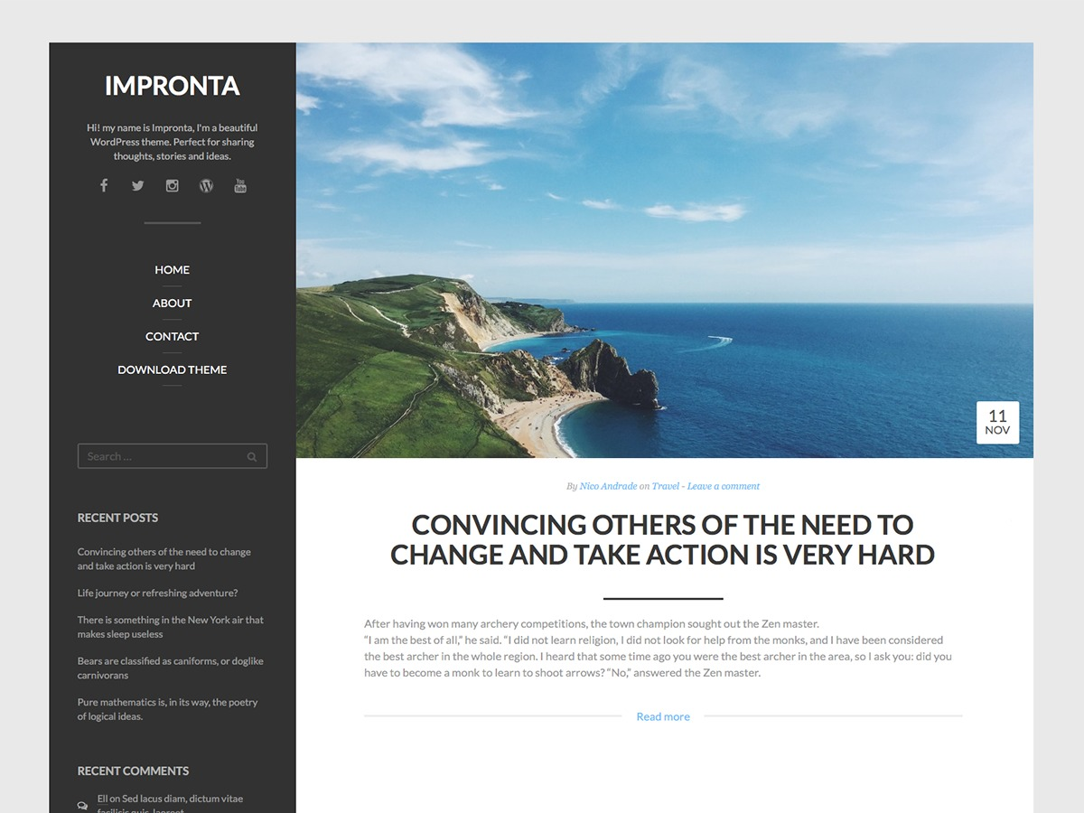 Impronta WordPress theme download