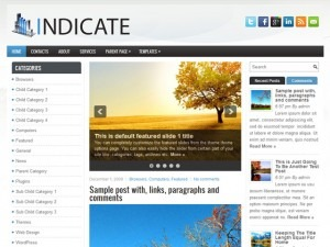 Indicate WordPress blog template