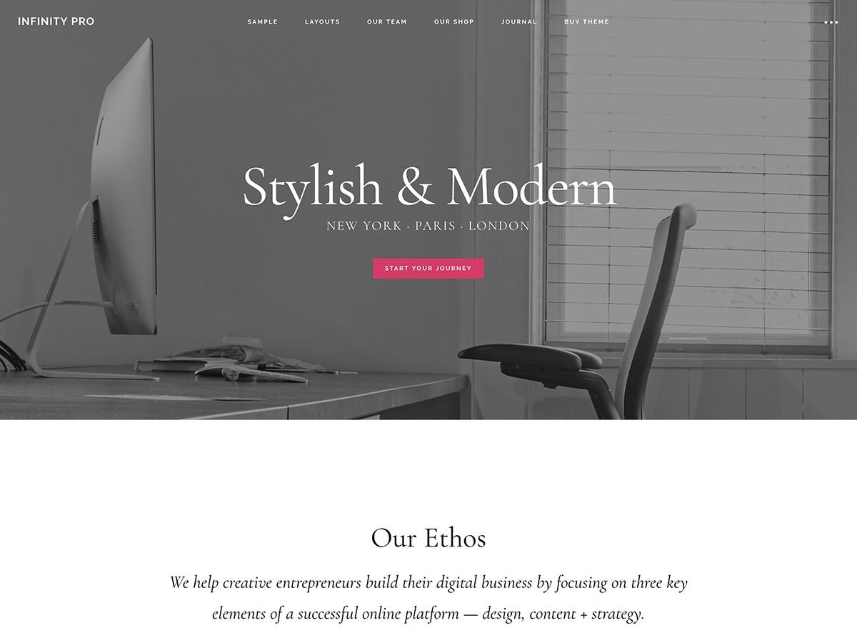 Infinity Pro WordPress theme design