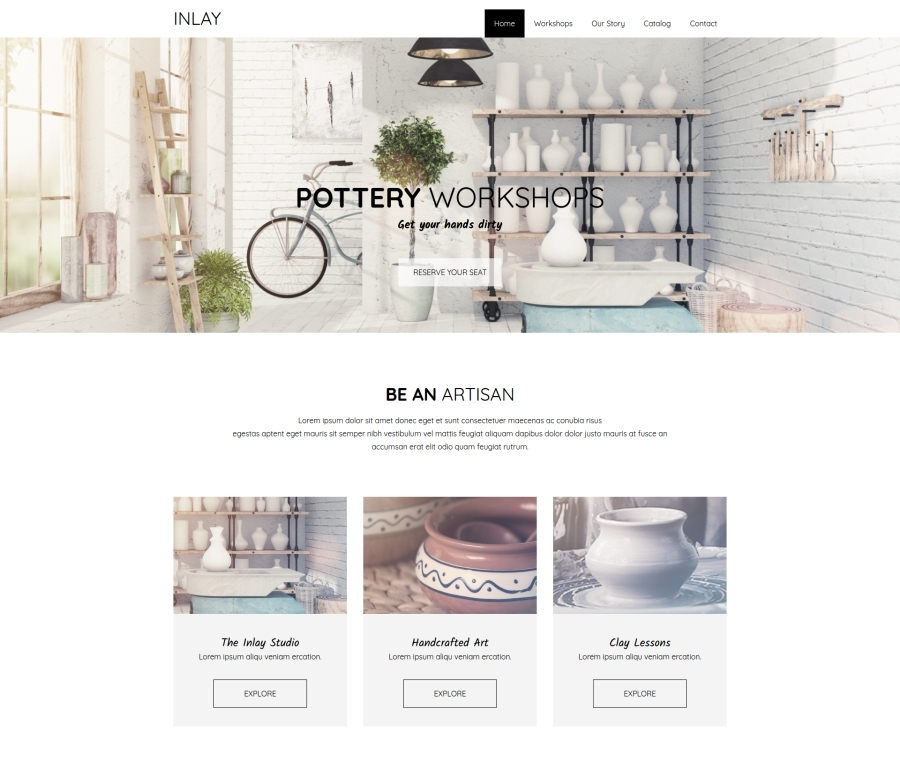 Inlay WordPress template for business