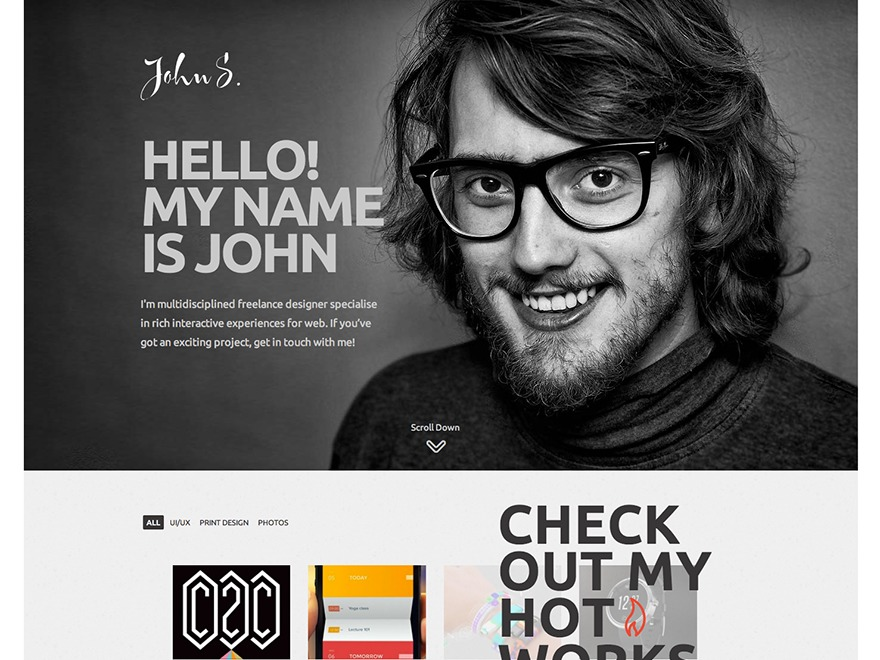 John theme WordPress portfolio