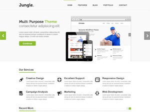 Jungle WordPress theme