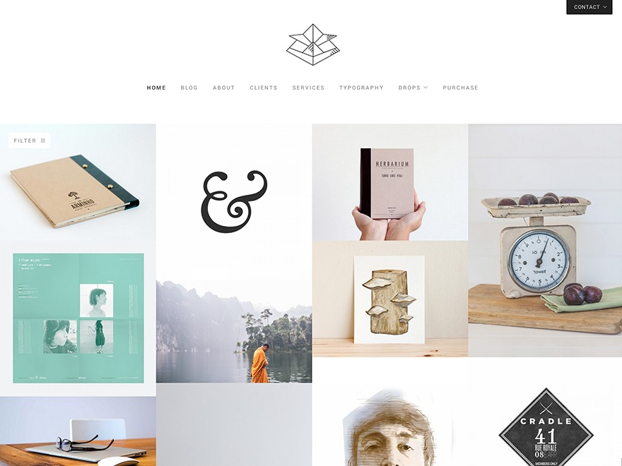 Kabuto theme WordPress portfolio