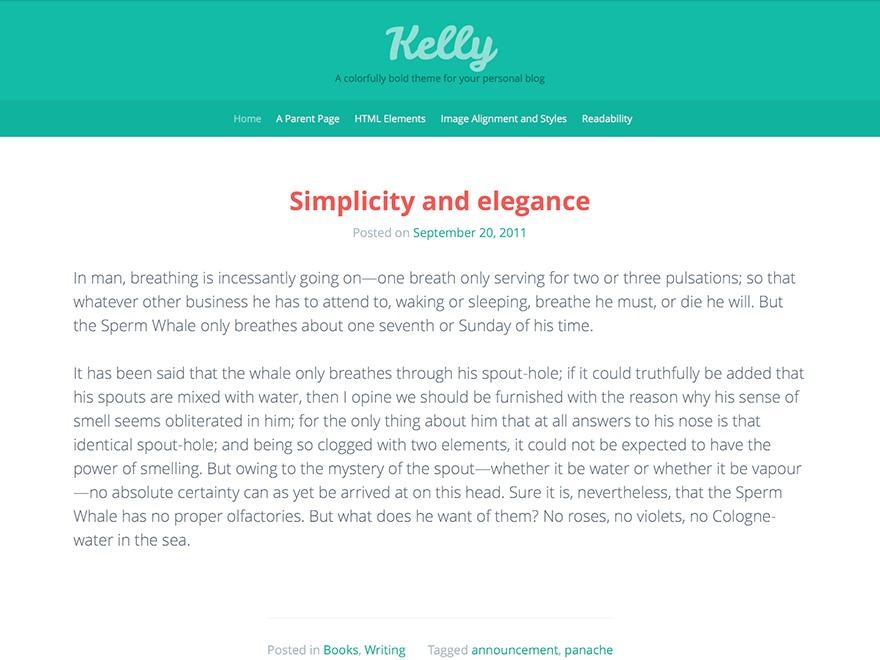 Kelly WordPress blog template