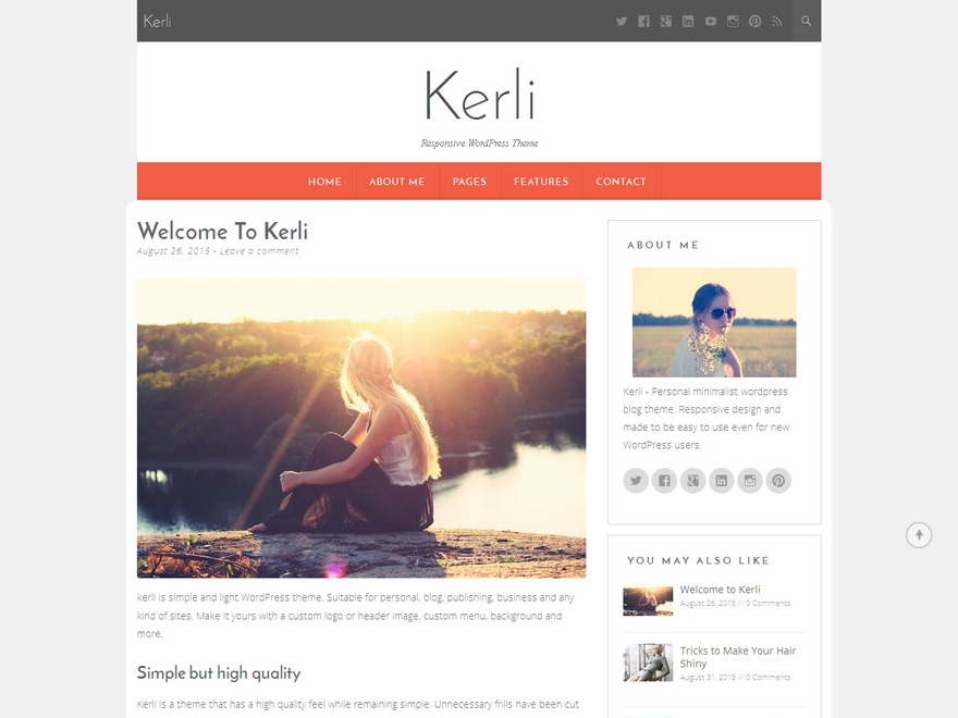 Kerli lite template WordPress free