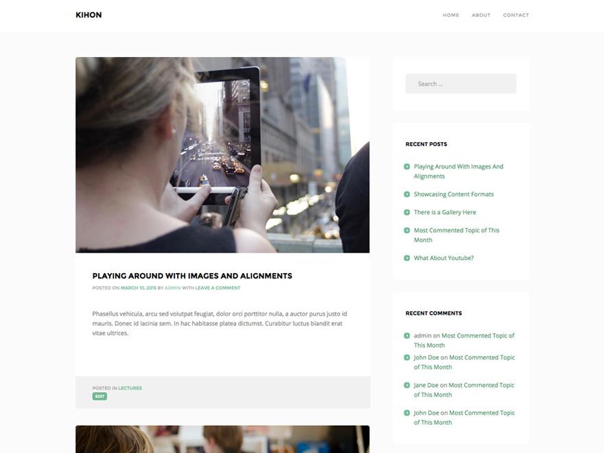Kihon WordPress blog theme