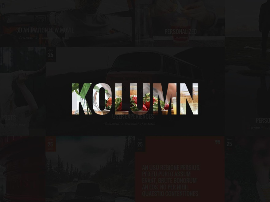 Kolumn WordPress blog theme