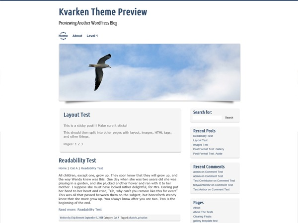 Kvarken template WordPress free