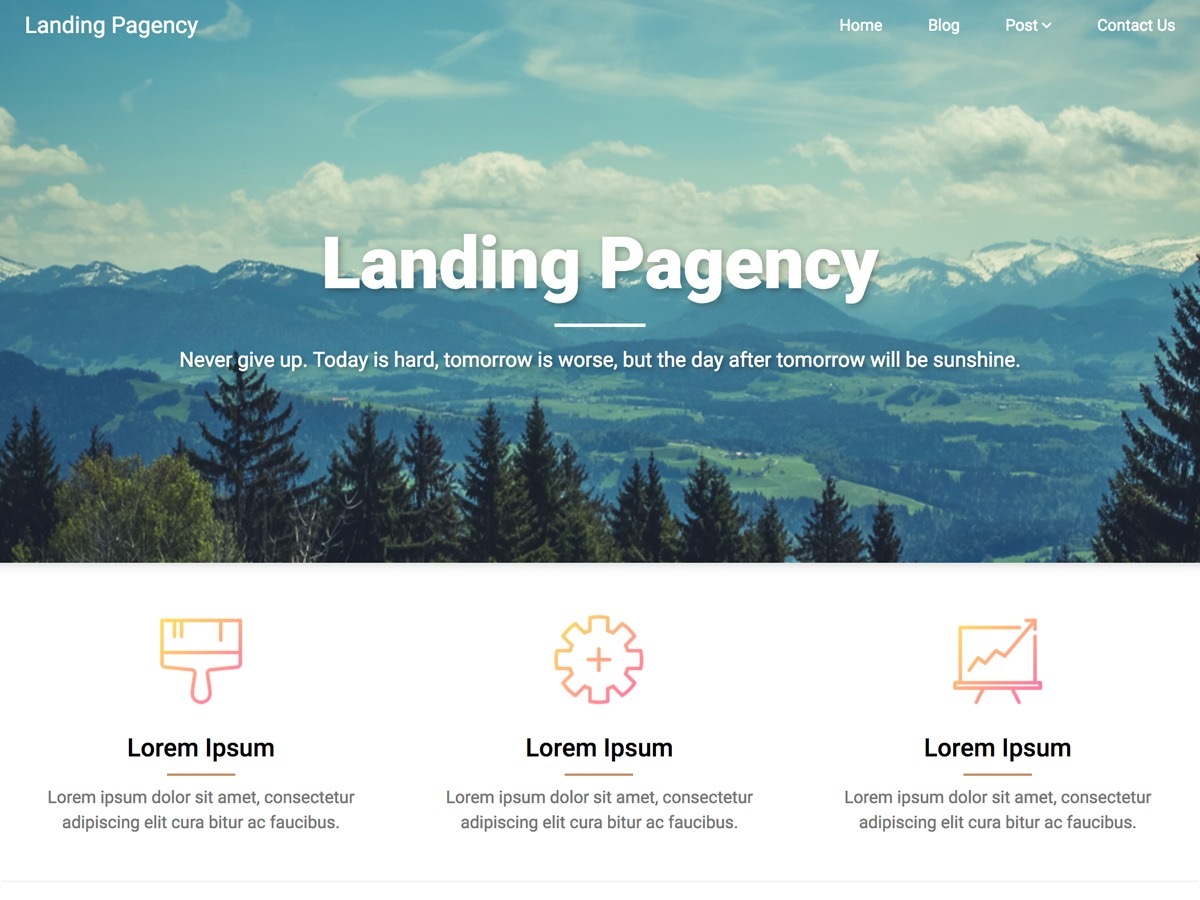 Landing Pagency WordPress theme download