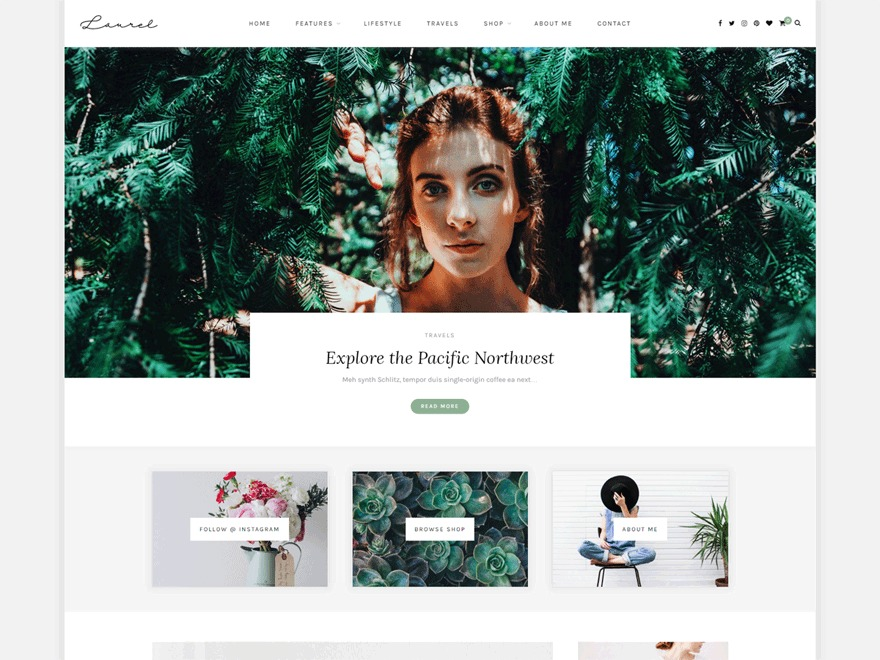 Laurel WordPress blog theme