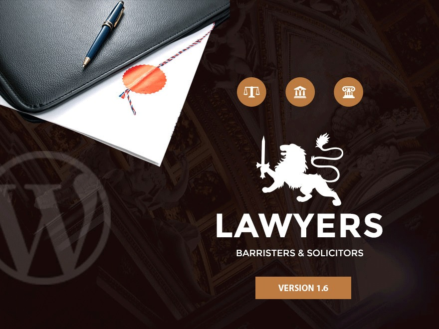 Lawyer WordPress news template