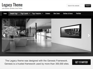 Legacy Child Theme WordPress theme