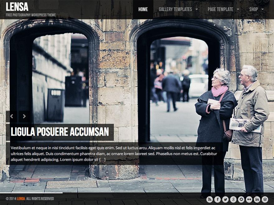Lensa business WordPress theme
