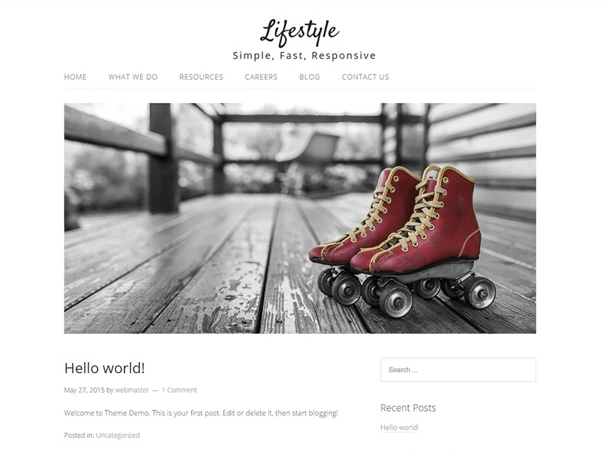 Lifestyle theme WordPress free