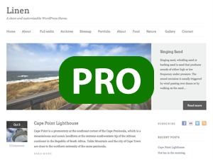 Linen PRO Child Theme best WordPress theme