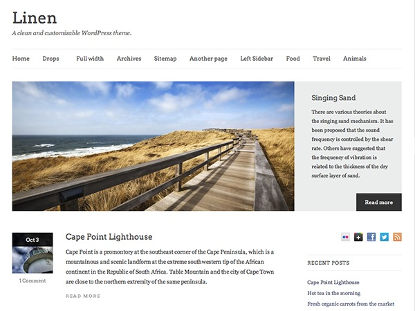 Linen PRO newspaper WordPress theme