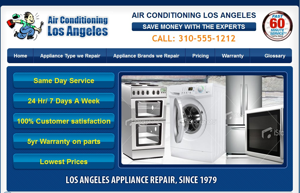Los angeles Appliance Repair WordPress theme