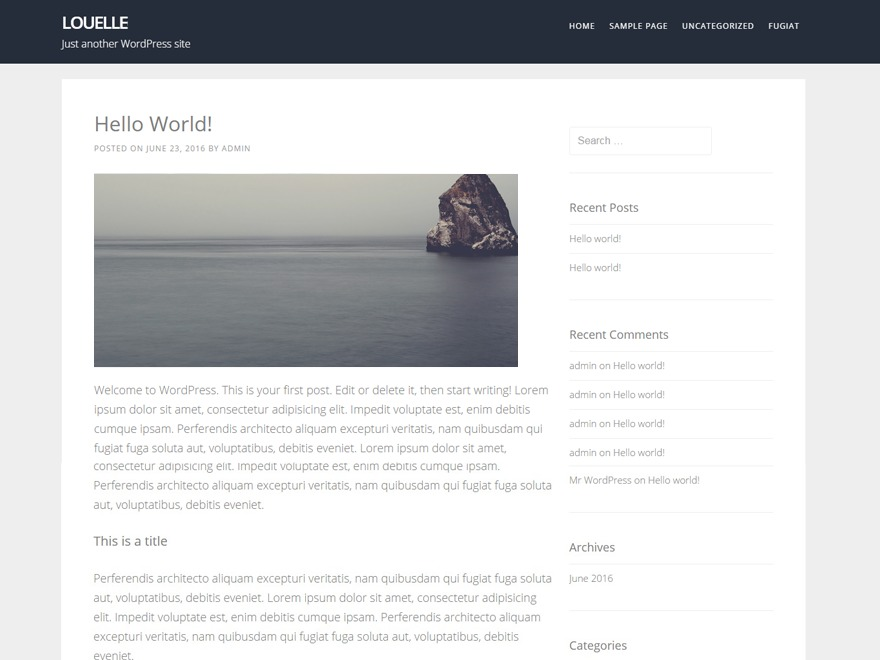 louelle theme WordPress free