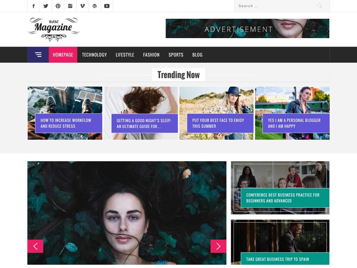 Magazine Base best WordPress magazine theme