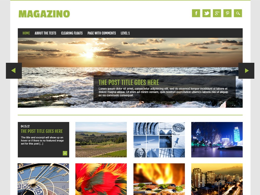 Magazino WordPress blog template